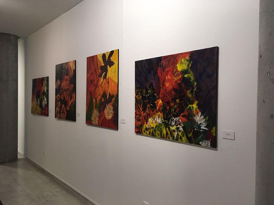 Exposición en la sala Saramago.Maltu